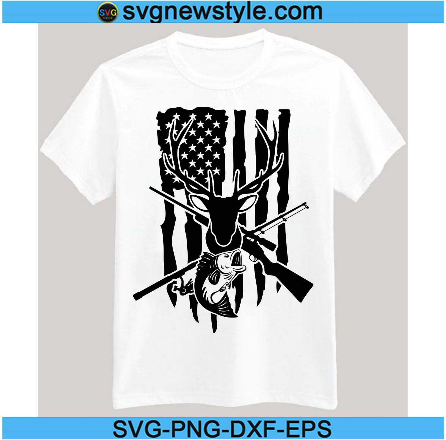 Download Us Fishing Hunting Flag Svg Deer Head Svg Deer Svg Clipart For Cricut Fishing Svg Hunting Rifle Svg Svg New Style
